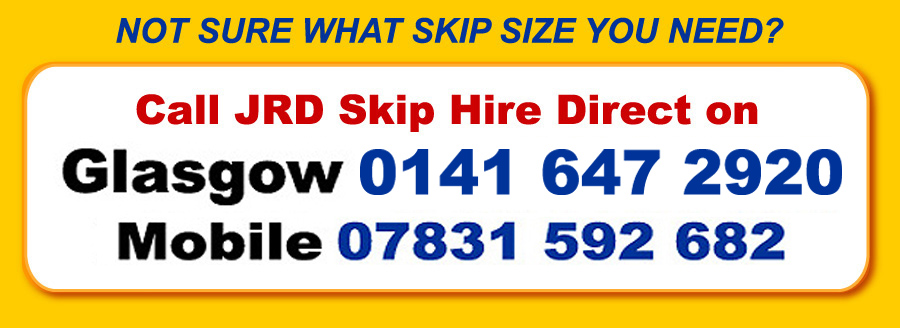 JRD Skip Hire Contact Telephone Numbers
